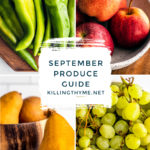 What's In Season? September Produce Guide.