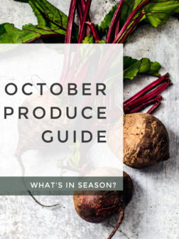 What's In Season? October Produce Guide.