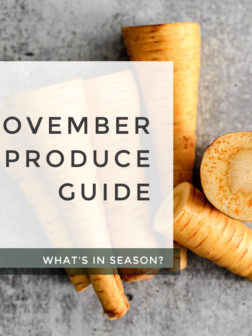 What's In Season? November Produce Guide.
