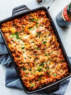 Homemade Lasagna with Ground Turkey Meat Sauce
