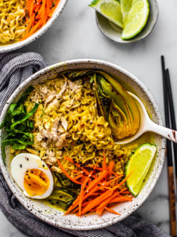 Cozy Chicken Curry Ramen Soup