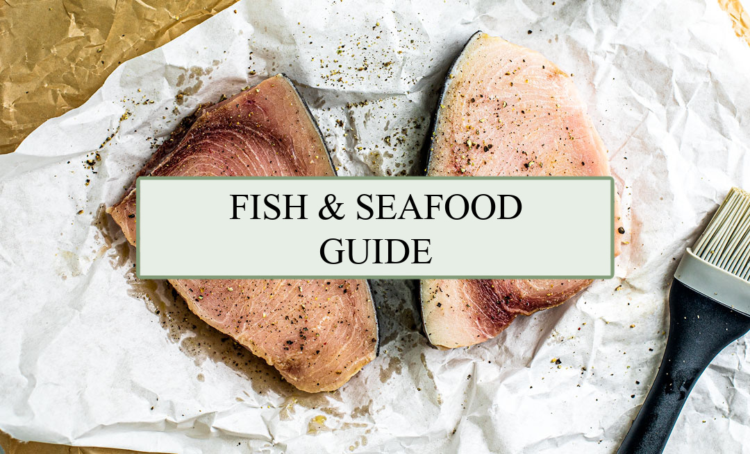 Header for fish and seafood guide.