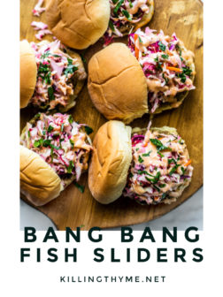 Bang Bang Fish Sliders pin.