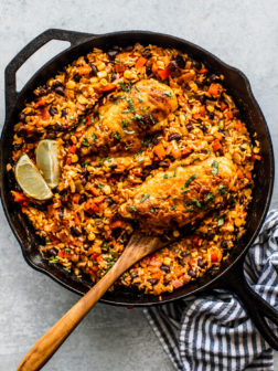 One-Pan Tex Mex Salsa Chicken and Rice