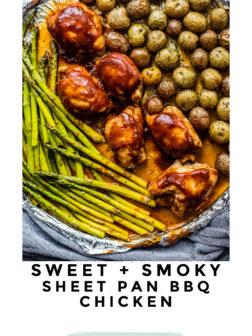 Sweet and Smoky Sheet Pan BBQ Chicken pin.