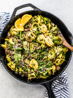 One-Pan Tortellini and Sausage Skillet Dinner